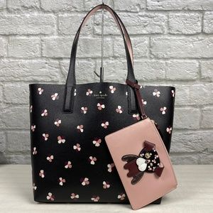 Kate Spade Floral Pup Large Reversible Tote